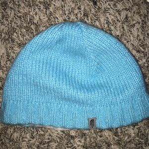 The North Face knit beanie with fuzzy lining